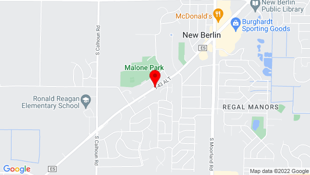 Google Map of 16400 W Al Stigler Pkwy, New Berlin, WI 53151